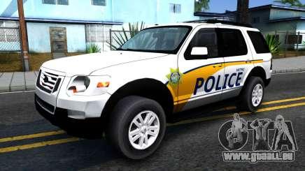 Ford Explorer Metro Police 2009 pour GTA San Andreas