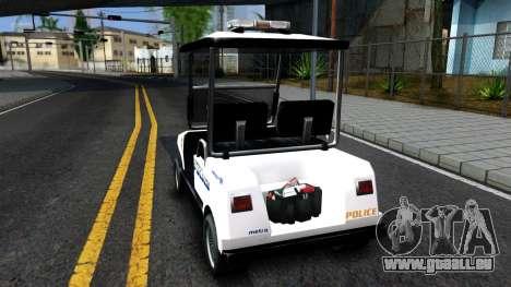 Caddy Metropolitan Police 1992 pour GTA San Andreas sur la vue arrière gauche
