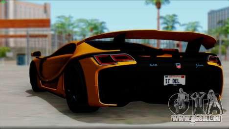 Spania GTA Spano 2016 für GTA San Andreas linke Ansicht