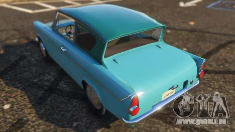 GTA 5 Ford Anglia 1959 from Harry Potter arrière vue latérale gauche