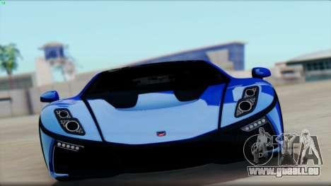 Spania GTA Spano 2016 für GTA San Andreas zurück linke Ansicht