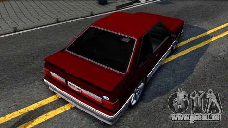 Ford Mustang 1993 für GTA San Andreas Rückansicht