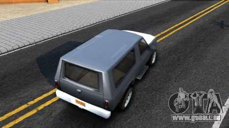 Land Roamer Driver Parallel Lines für GTA San Andreas Rückansicht