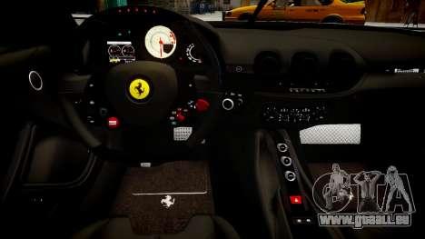 Ferrari F12 Berlinetta pour GTA 4 est une vue de l'intérieur