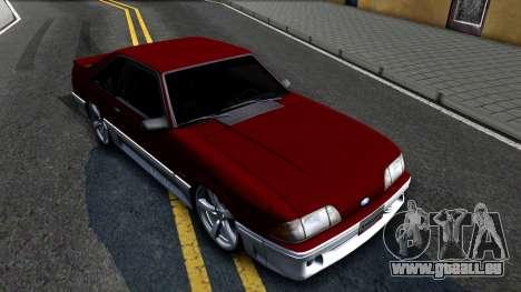 Ford Mustang 1993 für GTA San Andreas rechten Ansicht