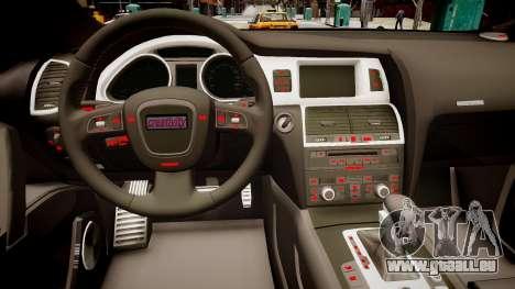 Audi Q7 CTI für GTA 4 Innenansicht
