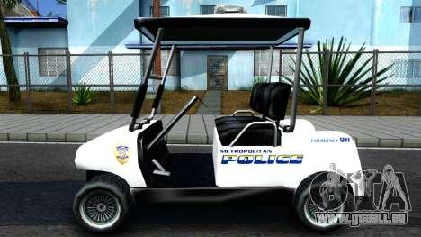 Caddy Metropolitan Police 1992 pour GTA San Andreas laissé vue