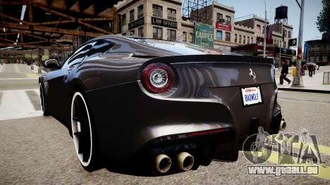 Ferrari F12 Berlinetta pour GTA 4 Vue arrière de la gauche