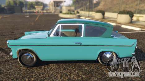 GTA 5 Ford Anglia 1959 from Harry Potter vue latérale gauche