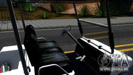 Caddy Metropolitan Police 1992 pour GTA San Andreas vue intérieure