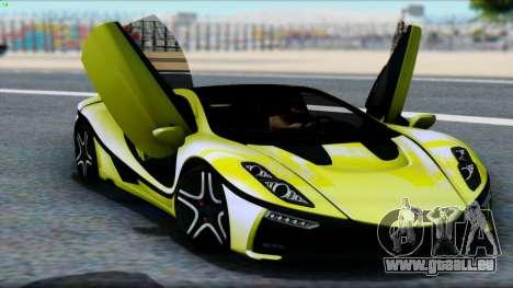 Spania GTA Spano 2016 für GTA San Andreas Rückansicht