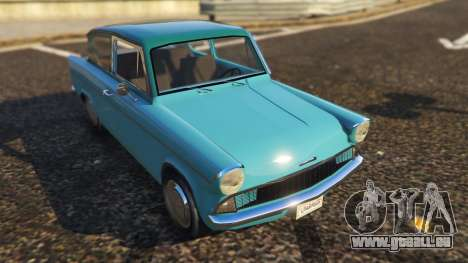 GTA 5 Ford Anglia 1959 from Harry Potter vue arrière