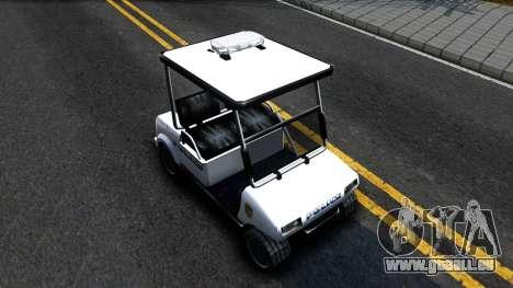 Caddy Metropolitan Police 1992 pour GTA San Andreas vue de droite