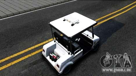 Caddy Metropolitan Police 1992 pour GTA San Andreas vue arrière