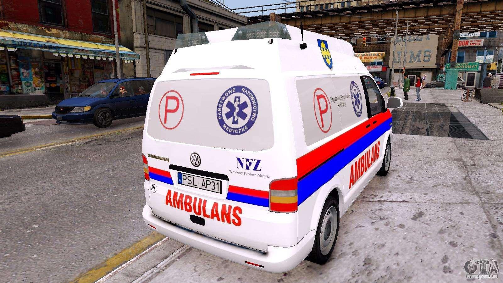 volkswagen t5 polish ambulance pour gta 4. Black Bedroom Furniture Sets. Home Design Ideas
