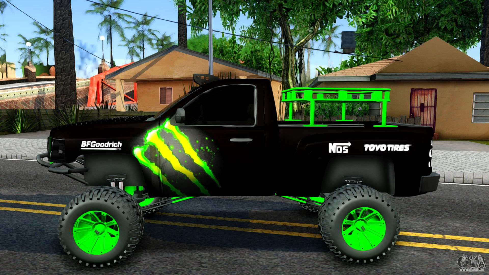 Chevrolet Silverado Monster Energy V2 für GTA San Andreas