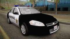 Chevrolet Impala 2007 Las Barrancas Marshal für GTA San Andreas
