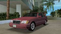 Mercedes-Benz 400SE W140 1991 pour GTA Vice City