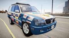 Toyota Land Cruiser GINAF Dakar Service Car für GTA 4
