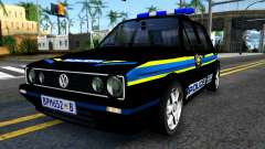 Volkswagen Golf Black South African Police pour GTA San Andreas