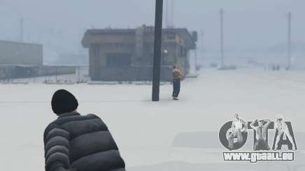 Snowballs in Singleplayer pour GTA 5