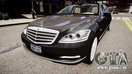 Mercedes-Benz S600 Guard Pullman 2011 pour GTA 4