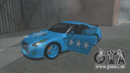 Nissan GTR Egoist 2011 (die Flagge der Kasachischen Khanat) für GTA San Andreas