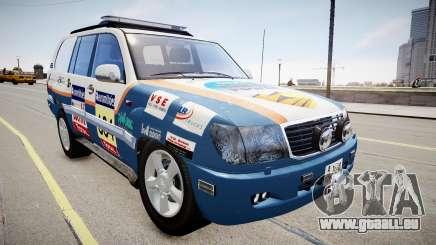 Toyota Land Cruiser GINAF Dakar Service Car pour GTA 4