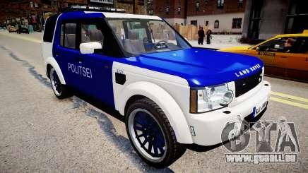 Land Rover Discovery 4 Estonian Police pour GTA 4
