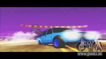 VAZ-2107 Bleu pour Le Udnikoff pour GTA San Andreas