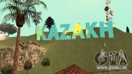 L'inscription en KAZAKH, au lieu de Vinewood pour GTA San Andreas