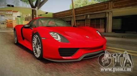 Porsche 918 Spyder 2013 SA Plate pour GTA San Andreas