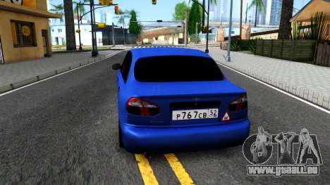 Daewoo Lanos V3 pour GTA San Andreas sur la vue arrière gauche