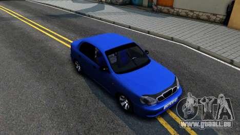 Daewoo Lanos V3 pour GTA San Andreas vue de droite