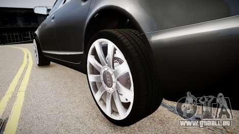 Audi A6 pour GTA 4 Vue arrière