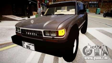Toyota Land Cruiser GX 1997 für GTA 4 hinten links Ansicht