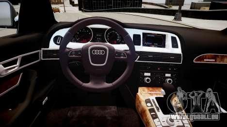 Audi A6 pour GTA 4 est une vue de l'intérieur
