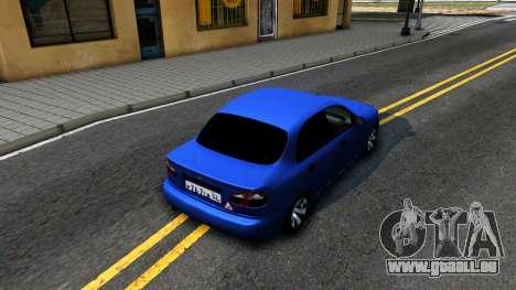 Daewoo Lanos V3 pour GTA San Andreas vue arrière