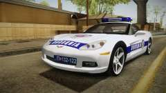 Chevrolet Corvette C6 Serbian Police pour GTA San Andreas
