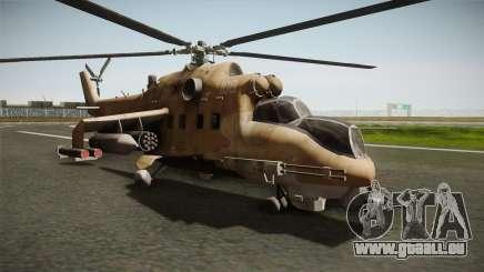 CoD Series - Mi-24D Hind Desert pour GTA San Andreas