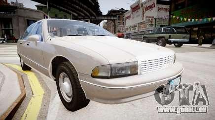 Chevrolet Caprice Civilian 1991 pour GTA 4