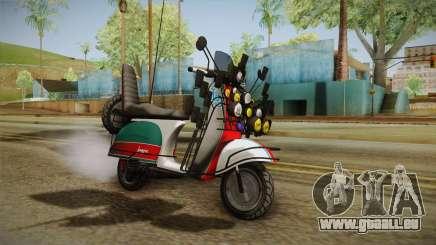 GTA 5 Pegassi Faggio Cool Tuning v5 pour GTA San Andreas