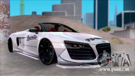 Audi R8 Spyder 5.2 V10 Plus LB Walk DiCe pour GTA San Andreas