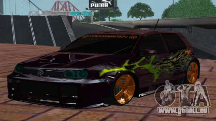 VOLKSWAGEN GOLF GTI LIGHT TUNING pour GTA San Andreas