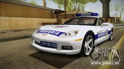 Chevrolet Corvette C6 Serbian Police für GTA San Andreas