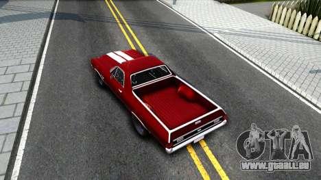 Chevrolet El Camino SS für GTA San Andreas Rückansicht