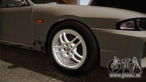 Nissan Skyline GTS25-t Mk.IX R33 Paintjob pour GTA San Andreas vue arrière
