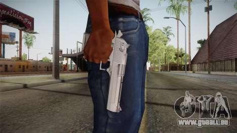 Desert Eagle 50 AE Silver für GTA San Andreas dritten Screenshot