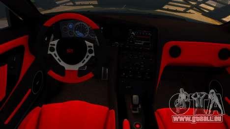 Nissan GTR Armored Grey 2017 pour GTA 4 est une vue de l'intérieur