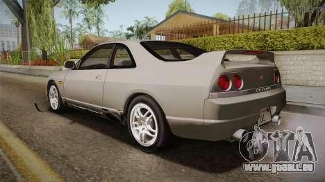 Nissan Skyline GTS25-t Mk.IX R33 Paintjob pour GTA San Andreas laissé vue